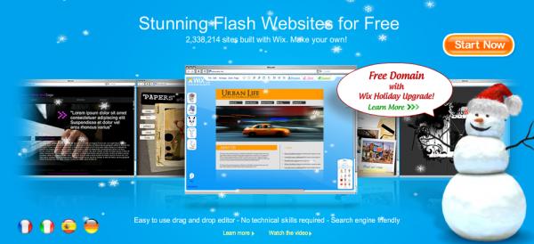 Wix | Interactive flash website builder